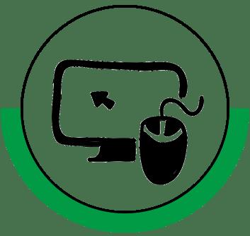 Remote work training icon