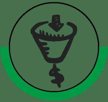 Vanzari si customer experience training area icon